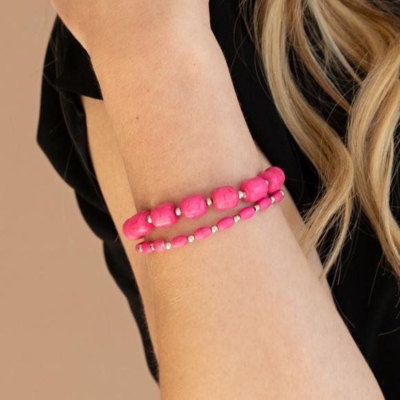 Pink Cracklestone bracelet